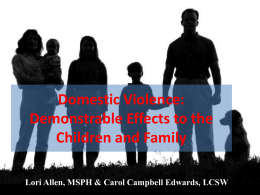 Domestic Violence - The Florida Network of Children`s Advocacy