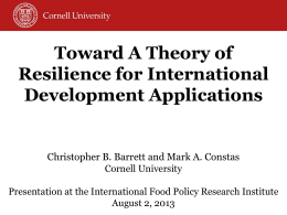 Toward A Theory of Resilience for International