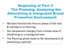 Chapter 5 Advertising, Integrated Brand Promotion, & Consumer