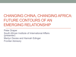 Changing china, changing Africa: future contours