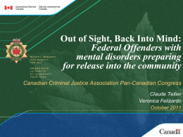 Out of Sight, Back Into Mind - Canadian Criminal Justice Association