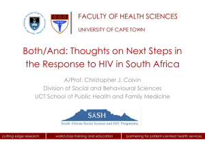 Colvin Response to HIV in South Africa