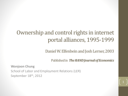 Ownership and control rights in internet portal alliances, 1995