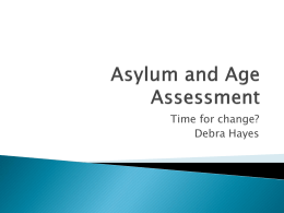 Asylum and Age Assessment