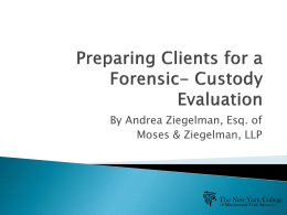 custody evaluation by andrea ziegelman, esq. of moses