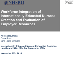 Workforce Integration of Internationally Educated Nurses