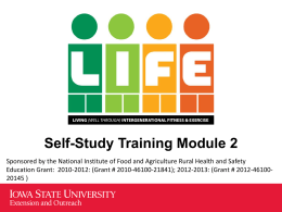 Module 2: Older Adults - Iowa State University Extension and Outreach