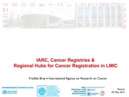 Population-Based Cancer Registries