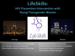 HIV Prevention Intervention for Young Transgender Women