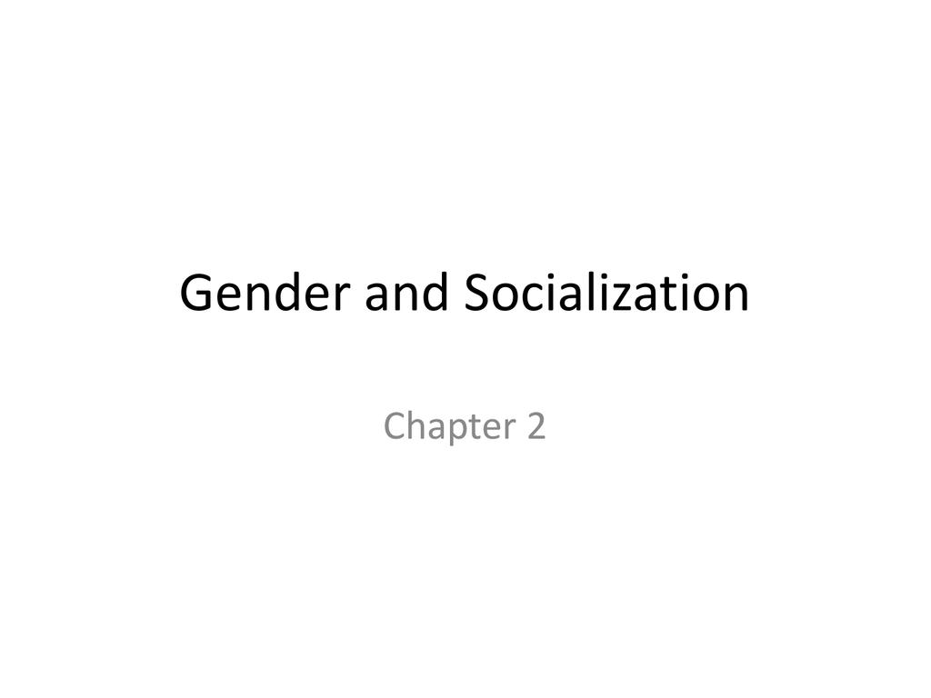 When does gender socialization begin