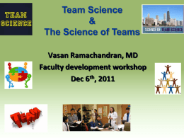 Team-based Science