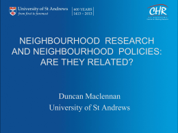 Presentation - Neighbourhood Effects