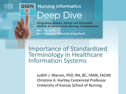 Importance of Standardized Terminology in Healthcare