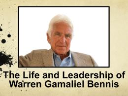 PowerPoint on Warren Bennis