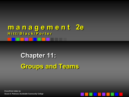 Management Theories on Groups on Teams