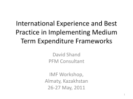 Medium_Term_Expenditure_Frameworks - PFM blog