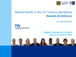 Dr Adrian Massey- Mental Health in the 21st Century Workplace