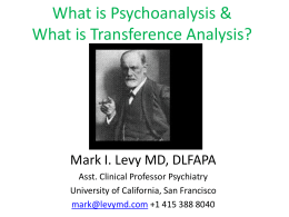 The Analysis of Transference