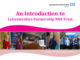 Effective Care - Leicestershire Partnership NHS Trust