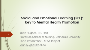 Social and Emotional Learning: Key to Mental Health