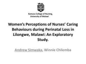 Women`s Perceptions of Nursing Support during Perinatal Loss in