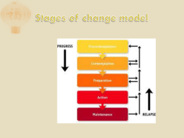stages of change model – summary ppt 110216