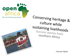 Conserving heritage while Sustaining Livelihoods