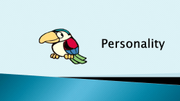 Personality - PSY 233