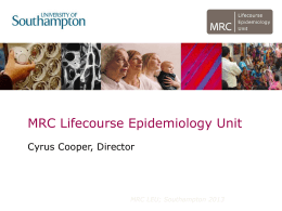 Presentation on the MRC LEU