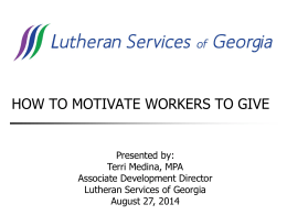 PowerPoint from the Lutheran Services of Georgia presentation