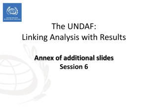 6 Linking analysis with results - Annex to v short