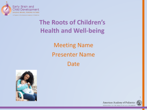 Pediatricians PPT - Healthy Child Care America