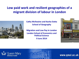 Low paid work and resilient geographies of a