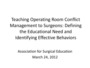 Teaching Operating Room Conflict Management to Surgeons
