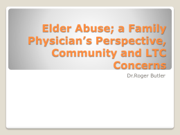 Dementia and Elder Abuse