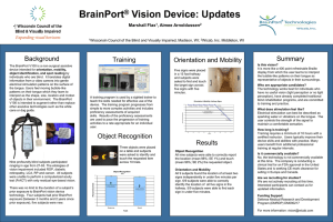 BrainPort ® Vision Device: Updates Marshall Flax 1 , Aimee