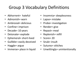 Vocabulary Group 3