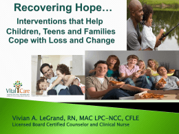 Recovering Hope- - - Interventions that Help
