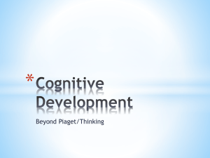 Cognitive Development – Thinking