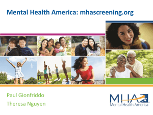 Mental Health America: mhascreening.org