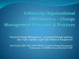 Enhancing your Organizational Effectiveness