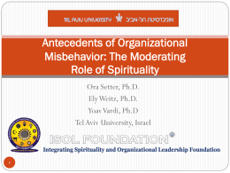 Organizational misbehavior