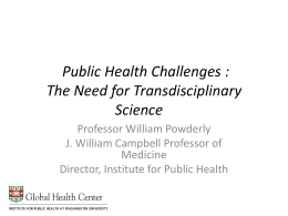 Public Health Challenges – McDonnell Sciences Academy