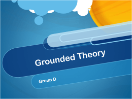 Group D Presentation on Grounded Theory