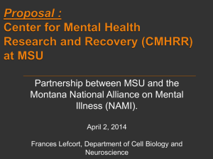 Presentation for Mental Health and Research Recovery Proposal