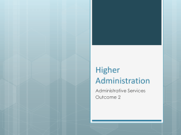 Administrative Services Outcome 2