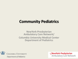 Community Pediatrics Introduction