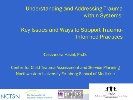 Dr. Cassandra Kisiel`s presentation at this year`s NRCI Conference