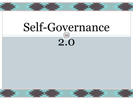 Self-Governance 2.0 - National Congress of American Indians