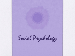 Social Psychology JC - Middletown High School